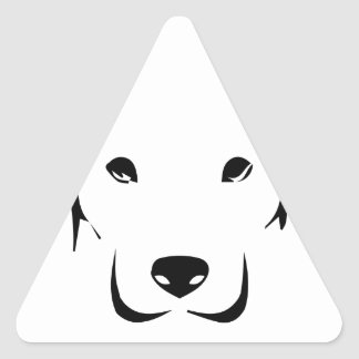 Puppy Labrador Triangle Sticker