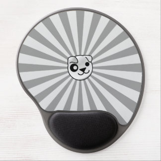 Puppy Linux Grey StarBurst Gel Mouse Pad