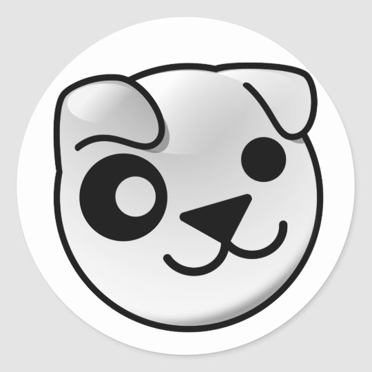 Puppy logo stickers