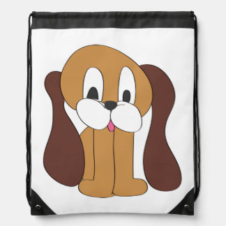 PUPPY LONG EARS DRAWSTRING BACKPACK