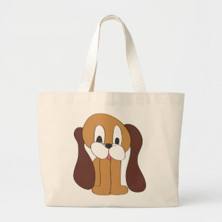 PUPPY LONG EARS LARGE TOTE BAG