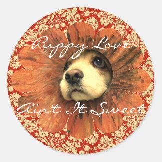 Puppy Love  Ain't It Sweet Sticker
