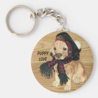 Puppy Love                           ... Basic Round Button Keychain