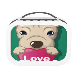 Puppy Love Blue yubo Lunch Box Lunch Box