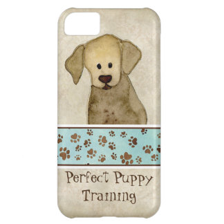 Puppy Love Brown Paws Doggy Business Advertising Case For iPhone 5C
