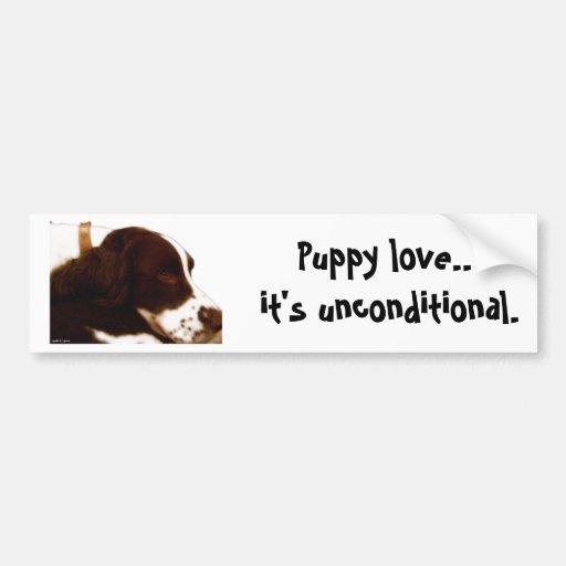 Puppy Love Bumper Sticker
