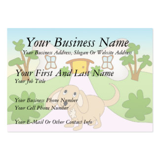 Puppy Love Large Business Cards (Pack Of 100)