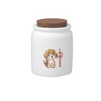PUPPY LOVE CANDY JAR