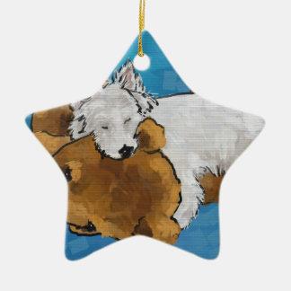 Puppy Love Ceramic Ornament