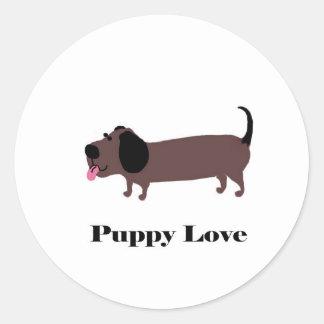 Puppy Love Classic Round Sticker