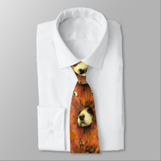 Puppy Love Cocker Spaniel Peeking through hole Neck Tie