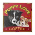 Puppy Love Coffee Ceramic Tile