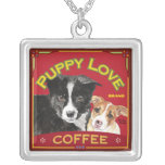 Puppy Love Coffee Personalized Necklace