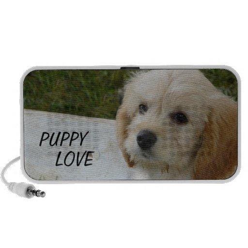 Puppy Love - Cute MaltiPoo Dog Photo Portable Speaker