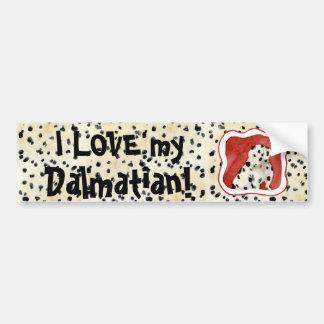 """Puppy Love,"" Dalmatian Puppy Art by Audrey Jeanne Bumper Sticker"