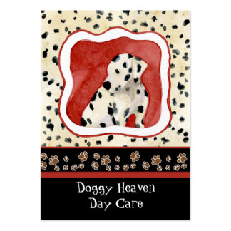 """""""Puppy Love,"""" Dalmatian Puppy Art by Audrey Jeanne Large Business Cards (Pack Of 100)"""