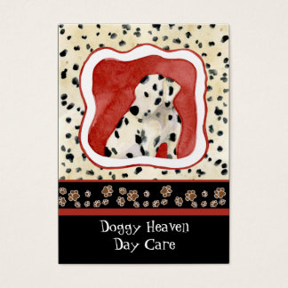 """Puppy Love,"" Dalmatian Puppy Art by Audrey Jeanne Business Card"