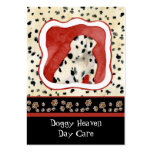 """""""Puppy Love,"""" Dalmatian Puppy Art by Audrey Jeanne Large Business Card"""