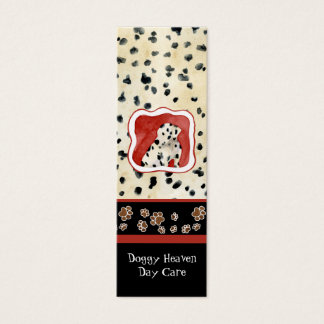 """Puppy Love,"" Dalmatian Puppy Art by Audrey Jeanne Mini Business Card"