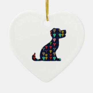 PUPPY LOVE dog pet animal NVN96 NavinJOSHI FUN Christmas Tree Ornaments