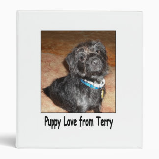 Puppy Love From Terry, 3-Ring Binder