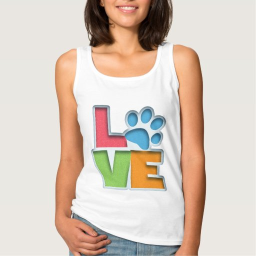 Puppy Love II Basic Tank Top Tank Tops, Tanktops Shirts