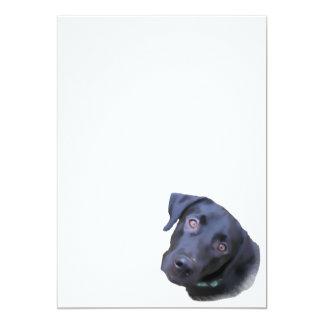 Puppy love 5x7 paper invitation card