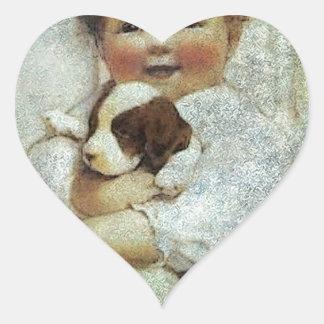 PUPPY LOVE.jpg Heart Sticker