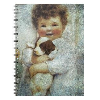 PUPPY LOVE.jpg Spiral Notebook