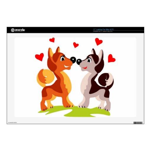 Puppy love laptop decals