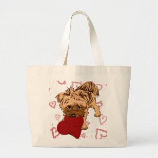puppy love large tote bag