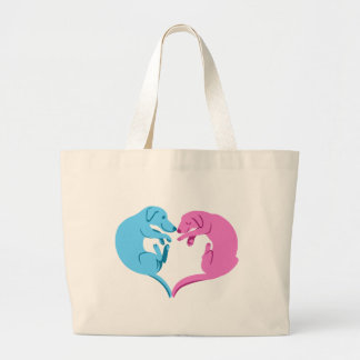 Puppy Love Logo Large Tote Bag