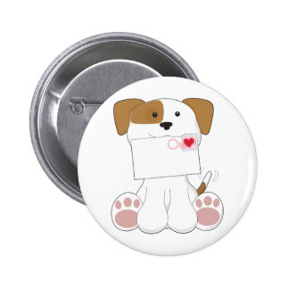 Puppy Love Love Letter Pinback Buttons