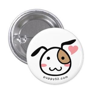 Puppy Love Mascot Pinback Button