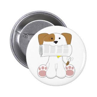 Puppy Love Newspaper Button