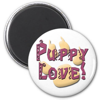 Puppy Love Pawprint Tees and Gifts Magnets