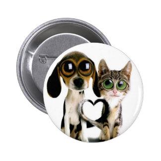 puppy love peace 2 inch round button