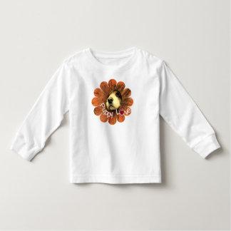 Puppy Love Peeking Out of a Flower Toddler T-shirt