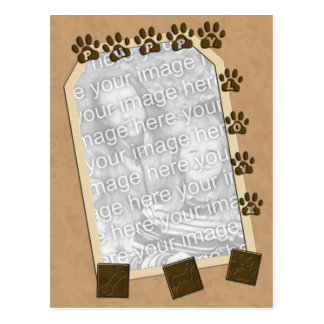 Puppy Love Photo Frame Template Postcard
