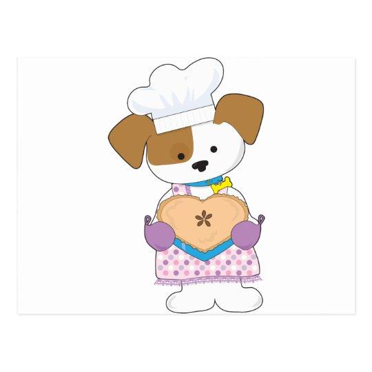 Puppy Love Pie Postcard