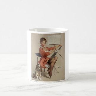 Puppy Love Pin Up Art Coffee Mug