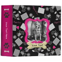 Puppy Love Pink - Customize Binder