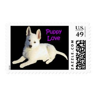 Puppy Love Postage Stamp