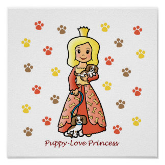 Puppy-Love Princess Poster