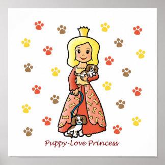 Puppy-Love Princess Poster