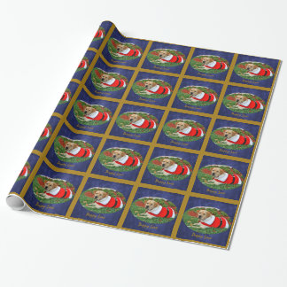 Puppy Love - Puppy in Santa Outfit Wrapping Paper