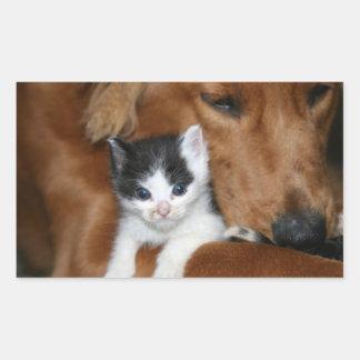 Puppy love rectangular sticker