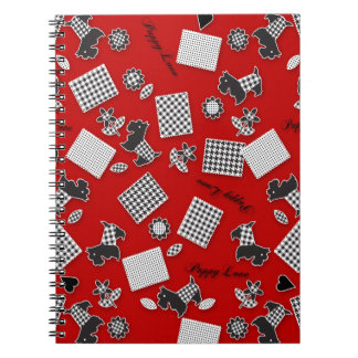 Puppy Love Scotty Terrier Red Notebook