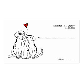 Puppy Love Seating Card Double-Sided Standard Business Cards (Pack Of 100)