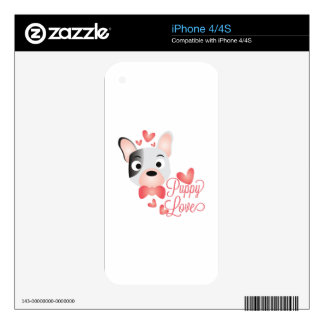 Puppy Love iPhone 4 Decal
